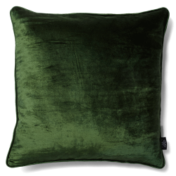 CUSHION COVER VELVET/LINEN 50X50 KOMBU GREEN
